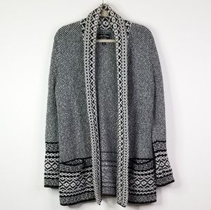 Lucky brand black and white knitted cardigan
